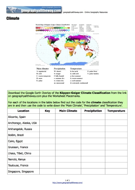 All Worksheets u00bb Weather And Climate Worksheets ...