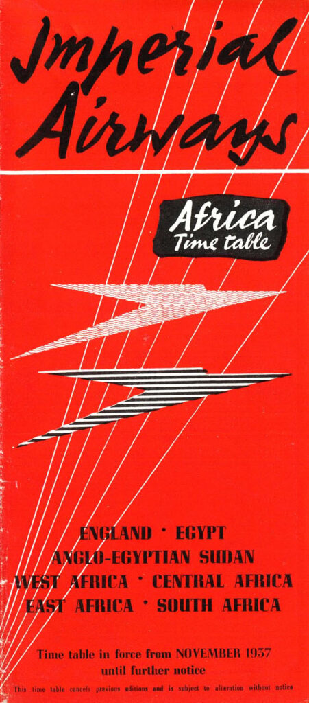 Imperial Airways Africa Timetable