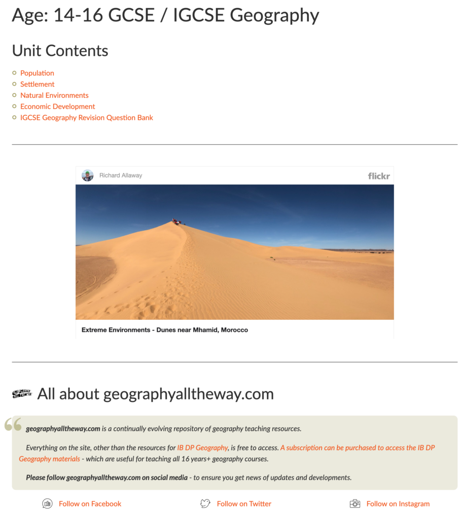 geographyalltheway - IGCSE Geography