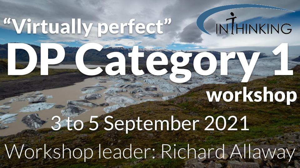 DP Category 1 workshop