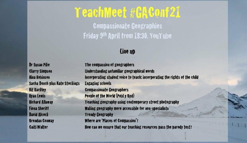 #gaconf21 TeachMeet