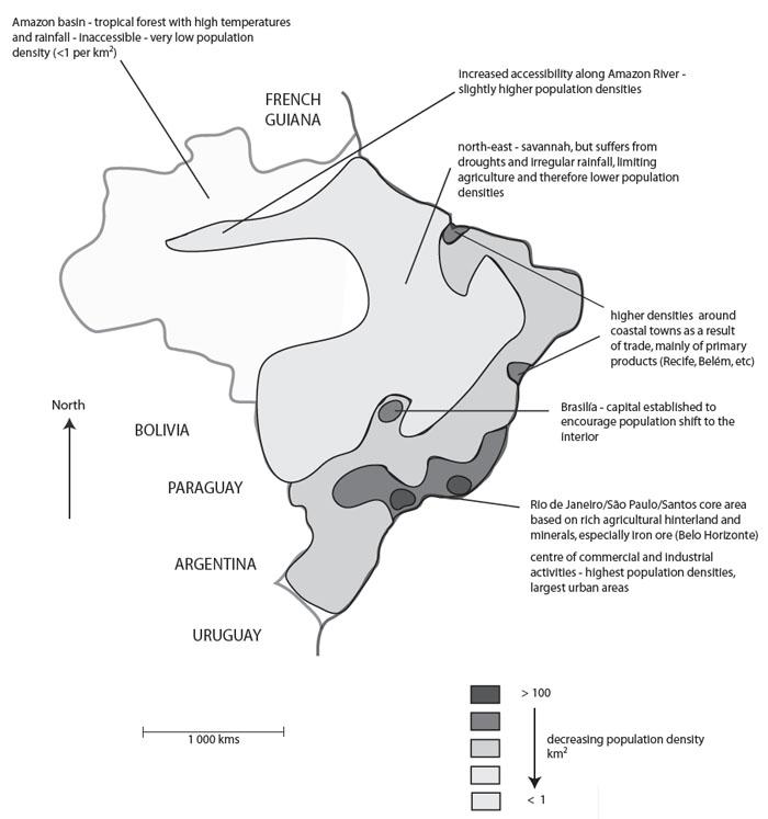 Sketch map of Brazil